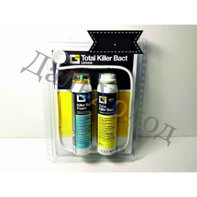 Набор очищающих средств для кондиционера (Total Killer Bact) пена100мл., спрей (лимон) RKAB08
