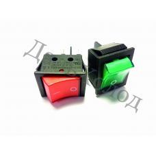 Переключатель KCD4-JK/N 16А, 250V красный