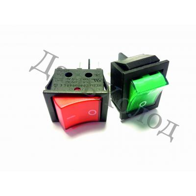 Переключатель KCD4-JK/N 16А, 250V зеленый