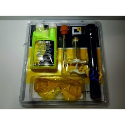 Набор для поиска утечек BRILLIANT(UV-краситель 250мл,адаптер для картриджа,шприц 20мл,UV-лампа,очки)