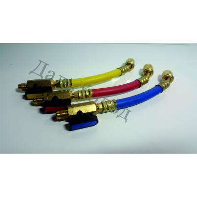 Комплект шлангов с вентилями SOV-3 (220мм; 1/4) (3 шт)
